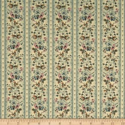 Andover Maling Road Victoria Vines Blue Fabric