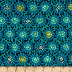 Andover/Makower Sundance Abstract Flower Fabric