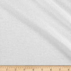 Runway Threads Poly Cotton Rib Knit White Fabric