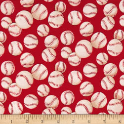 Alexander Henry Nicole's Prints Baseball Red Fabric