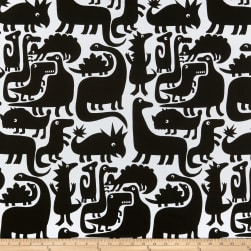Alexander Henry Dino-Mite! Tea/Black Fabric