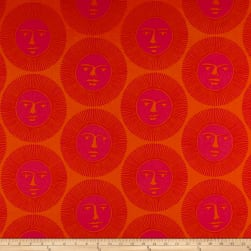 Alexander Henry Here Comes the Sun Tangerine Fabric