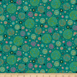 Ink & Arrow Aziza Dotted Circles Dark Teal