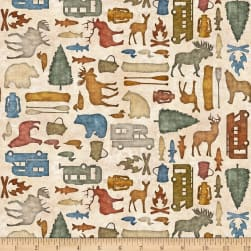 QT Fabrics Dan Morris Backcountry Small Camping Silhouettes