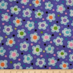 QT Fabrics Gypsy Dotted Floral Lilac Fabric
