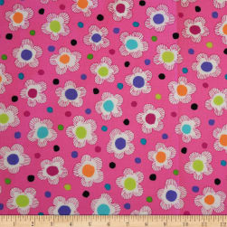QT Fabrics Gypsy Dotted Floral Pink Fabric