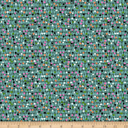 QT Fabrics Gypsy Dot On Texture Blue Fabric