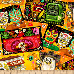 QT Fabrics Hot Tamale Tossed Foodie Patches Light