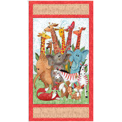 QT Fabrics Wild Things Animal 24