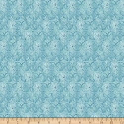 QT Fabrics Wild Things Geometric Flower Dusty Blue