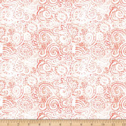 QT Fabrics Wild Things Scroll Tomato Fabric