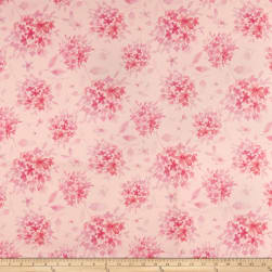 Love Always Tonal Floral Pink Fabric