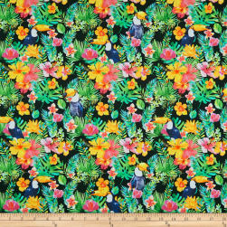 Tropicale Bird And Floral Black