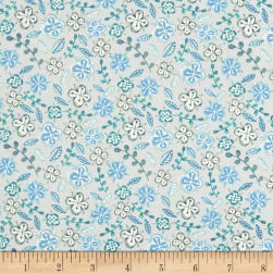 Farm Fresh Floral Blue Fabric