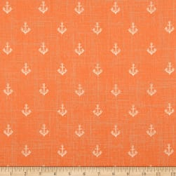 Give Me The Sea Anchors Coral Fabric