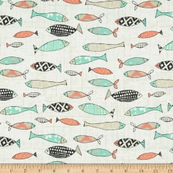 Give Me The Sea Fish Cream Fabric