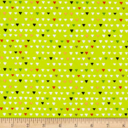 Woodland Tribe Triangle Lime Fabric