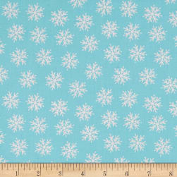 Merry Forest Snowflake Blue Fabric