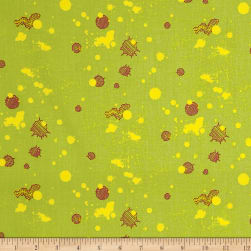 On Your Mark Paint Drippings Avocado/Multi Fabric
