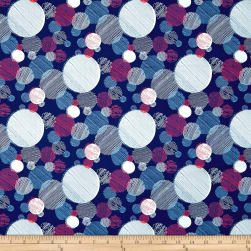 On Your Mark Abstract Dots Marine/Multi Fabric