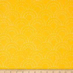 On Your Mark Scallop Doodles Daffodil Fabric