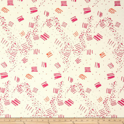 On Your Mark Large Scale Etchings White/Multi Fabric