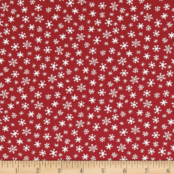 Andover Holiday Tweets Snow Red Fabric