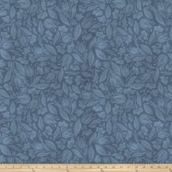 Miss Mustard Seed Bunnies Birds & Bloom Leafed Out Flow Blue Fabric