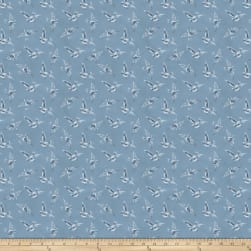 Miss Mustard Seed Bunnies Birds & Bloom Scattered Flock French Enamal Fabric