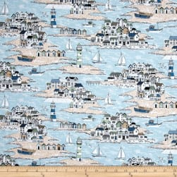 Andover/Makower UK Beachcomber Scenic Blue Fabric