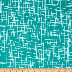 Andover Pick Up Sticks Turquoise Fabric