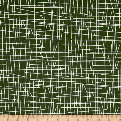 Andover Pick Up Sticks Forest Green Fabric