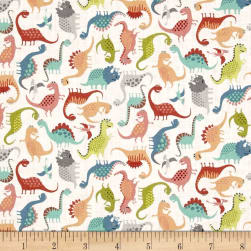 Andover/Makower UK Rex Mini Scatter White Fabric