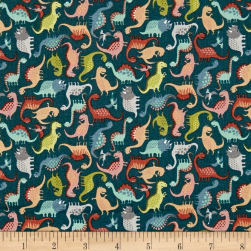 Andover/ Makower UK Rex Mini Scatter Blue Fabric