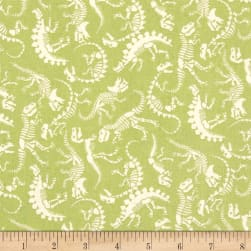Andover/Makower UK Rex Skeleton Green Fabric