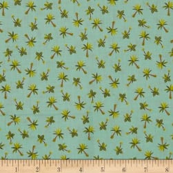 Andover/ Makower UK Rex Palm Trees Teal Fabric