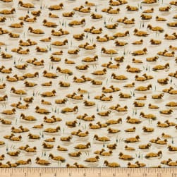 QT Fabrics Flying Geese Baby Geese Cream Fabric