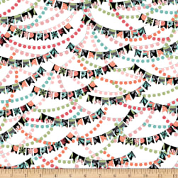 QT Fabrics Piece Of Cake Banners White Fabric