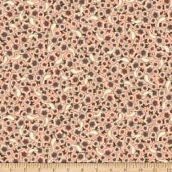 QT Fabrics Lost Song Packed Flowers Pale Coral