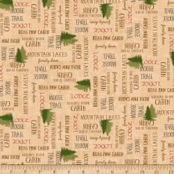 QT Fabrics Moose Trail Lodge Lodge Lingo Dark