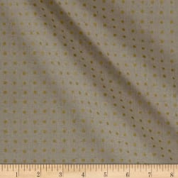 Andover Around Town Small Dots Metallic Linen Natural Fabric