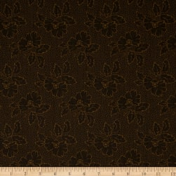 Andover Sequoia Silhouette Floral Black Bear Fabric