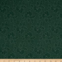 Andover Sequoia Silhouette Floral River Blue Fabric