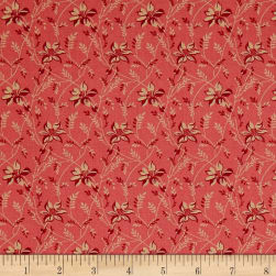 Andover Sequoia Buds and Vines Pinkberry Fabric