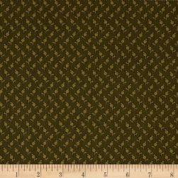 Andover Sequoia Tulips Forest Green Fabric