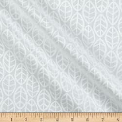 Andover Doodlicious Leaves Pigment White Fabric