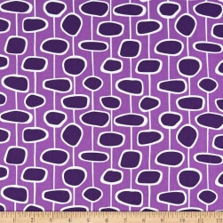Andover Doodlicious Strings Violet Fabric