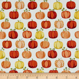 Andover/Makower UK Good Life Pumpkins Cream Fabric