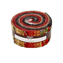 Kaufman Imperial Collection Roll Ups Crimson Metallic Fabric
