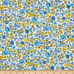 Andover/Makower Bloom Chintz Blue Fabric